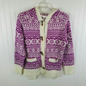 Avalanche hooded sweater coat Sz M